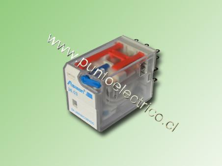 RELE DE 3 CONTACTOS CONMUTABLES. BOBINA 24VDC 2mm