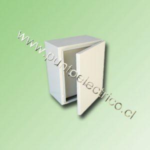 CAJA METALICA C/PUERTA INTERIOR 600x400x250mm RAL 7032