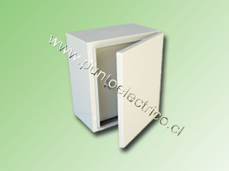 CAJA METALICA C/PUERTA INTERIOR 700x500x250mm RAL 7032