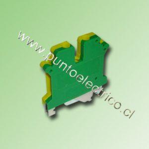 BORNE CONEXION TIERRA 2,5mm2 COLOR AMARILLO VERDE