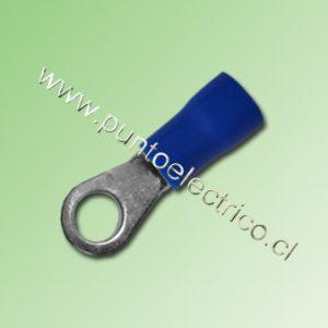 TERMINAL ANILLO 16/14 AWG COLOR AZUL PERF. 4.3mm