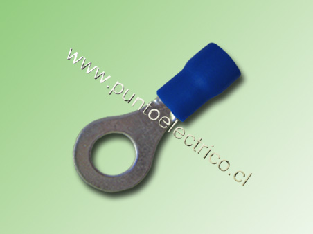 TERMINAL ANILLO 16/14 AWG COLOR AZUL PERF. 5.3mm