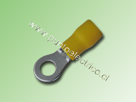 TERMINAL ANILLO 12/10 AWG COLOR AMARILLO PERF. 5.3mm
