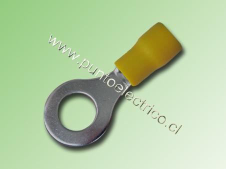 TERMINAL ANILLO 12/10 AWG COLOR AMARILLO PERF. 8.3mm