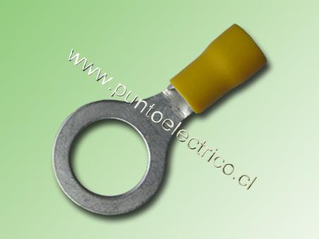 TERMINAL ANILLO 12/10 AWG COLOR AMARILLO PERF. 12mm