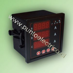 AMPERMETRO DIGITAL 3 FASES 5 Amp. 72x72 mm
