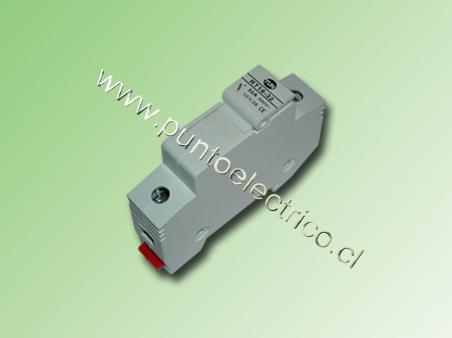 PORTA FUSIBLE SECCIONABLE A RIEL DIN 10,3x38mm 1 POLO 32Amp.