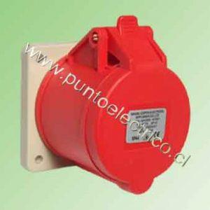 ENCHUFE HEMBRA EMBUTIDA 3P+N+T 32Amp. 380VAC. IP44