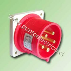 ENCHUFE MACHO EMBUTIDO 3P+N+T 32Amp. 3810VAC. IP44