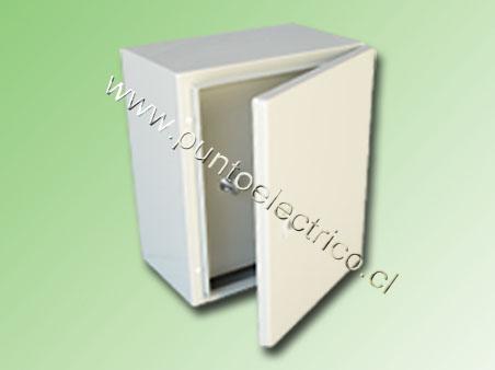 CAJA METALICA C/PUERTA INTERIOR 800x600x250mm RAL 7032