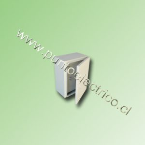 CAJA METALICA C/PUERTA INTERIOR 400x300x200mm RAL 7032