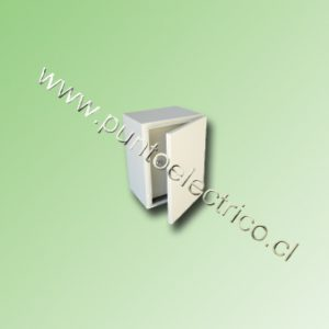 CAJA METALICA C/PUERTA INTERIOR 400x300x250mm RAL 7032