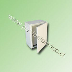 CAJA METALICA C/PUERTA INTERIOR 500x400x200mm RAL 7032