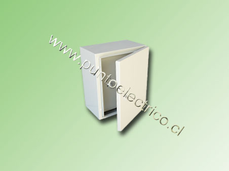 CAJA METALICA C/PUERTA INTERIOR 600x400x200mm RAL 7032