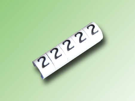 TIRA DE 100 MARCAS TIPO CLIP PARA CABLE 16/14 AWG N°2