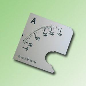 ESCALA AMPERMETRO 0-200Amp.AC 72x72mm
