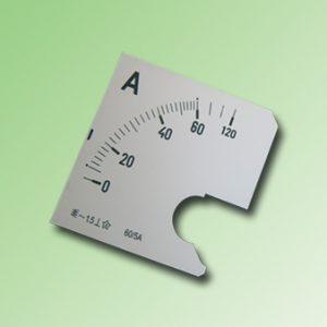 ESCALA AMPERMETRO 0-60Amp.AC 72x72mm