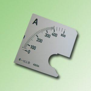 ESCALA AMPERMETRO 0-400Amp.AC 72x72mm