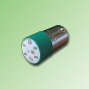 LED BA9S COLOR VERDE 110V AC/DC