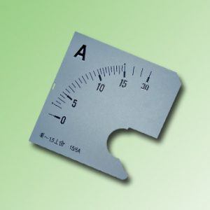ESCALA AMPERMETRO 0-15Amp.AC 72x72mm