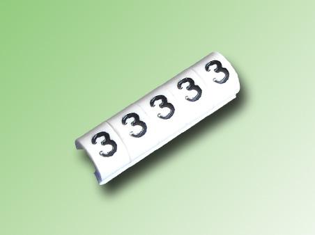 TIRA DE 100 MARCAS TIPO CLIP PARA CABLE 16/14 AWG N°3