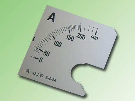 ESCALA AMPERMETRO 0-200Amp.AC 96x96mm