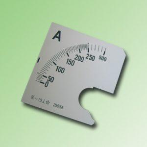 ESCALA AMPERMETRO 0-250Amp.AC 72x72mm