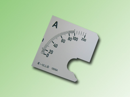 ESCALA AMPERMETRO 0-100Amp.AC 72x72mm