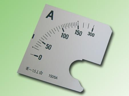 ESCALA AMPERMETRO 0-150Amp.AC 96x96mm