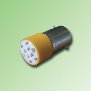 LED BA9S COLOR AMARILLO 110V AC/DC