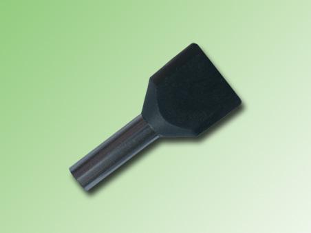 FERRULE AISLADO DOBLE 2,5mm COLOR NEGRO