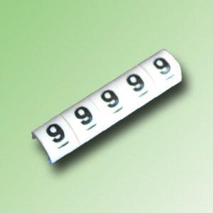 TIRA DE 100 MARCAS PARA CABLE 16/14AWG N°9