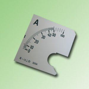 ESCALA AMPERMETRO 0-50Amp.AC 72x72mm
