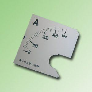 ESCALA AMPERMETRO 0-300Amp.AC 72x72mm