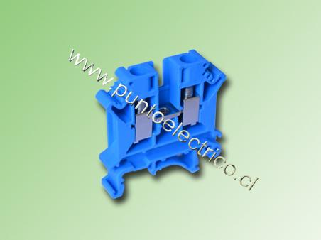 BORNE DE CONEXION 4.0mm2 COLOR AZUL