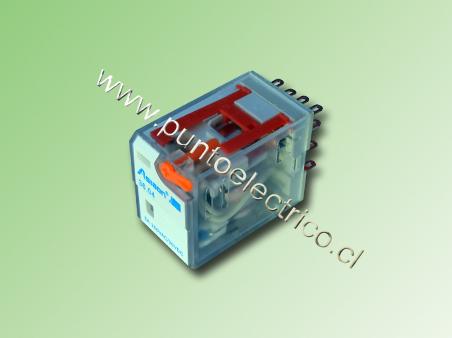 RELE DE 4 CONTACTOS CONMUTABLES. BOBINA 24VAC. 2mm