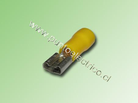 TERMINAL FASTON HEMBRA 12/10 AWG. COLOR AMARILLO ANCHO 5,3mm