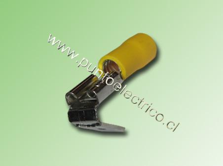 TERMINAL FASTON HEMBRA/MACHO 12/10 AWG. COLOR AMARILLO ANCHO 6,3mm