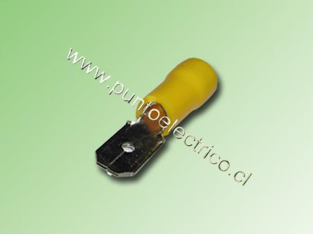 TERMINAL FASTON MACHO 12/10 AWG. COLOR AMARILLO ANCHO 6,3mm