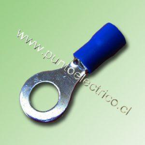TERMINAL ANILLO 16/14 AWG COLOR AZUL PERF. 6.3mm