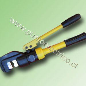 PRENSA TERMINALES HIDRAULICO 10 A 120mm2.