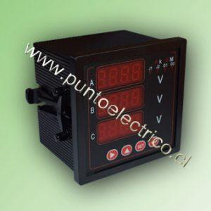 VOLMETRO DIGITAL 3 FASES 0-500 VAC. 72x72mm