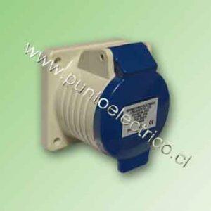 ENCHUFE HEMBRA EMBUTIDA 2P+T 32Amp. 220VAC. IP44