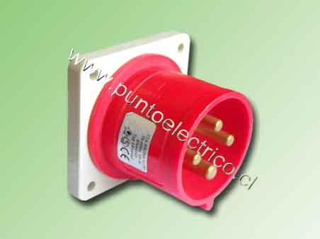ENCHUFE MACHO EMBUTIDO 3P+T 32Amp. 380VAC. IP44