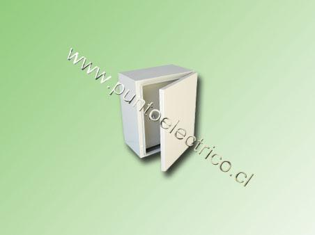 CAJA METALICA C/PUERTA INTERIOR 500x400x250mm RAL 7032