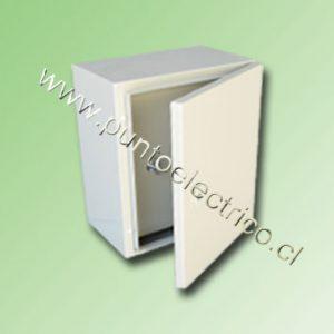 CAJA METALICA C/PUERTA INTERIOR 700x500x200mm RAL 7032