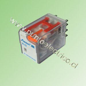 RELE DE 2 CONTACTOS CONMUTABLES. BOBINA 12VAC. 2mm