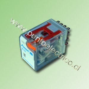 RELE DE 4 CONTACTOS CONMUTABLES. BOBINA 12VAC. 2mm
