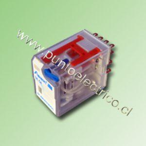 RELE DE 4 CONTACTOS CONMUTABLES. BOBINA 12VDC. 2mm