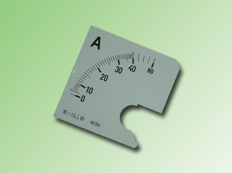 ESCALA AMPERMETRO 0-40Amp.AC 72x72mm